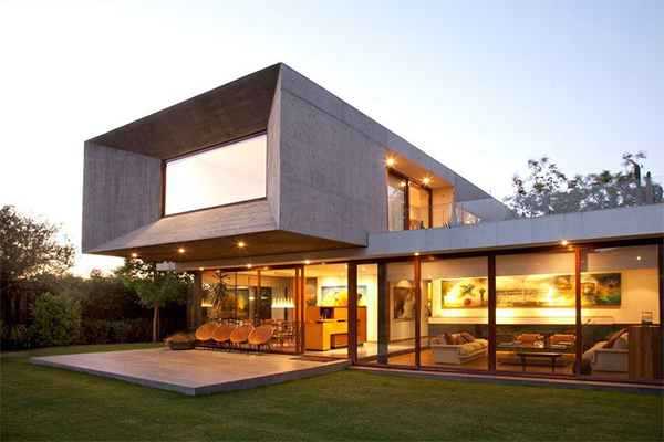 Modern box house design