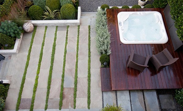 terrace hot tub