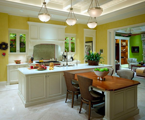 superb Kitchen Islands With Tables Attached #1: Kitchen Island table