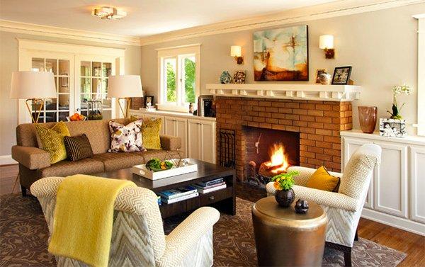 craftsman living room decors