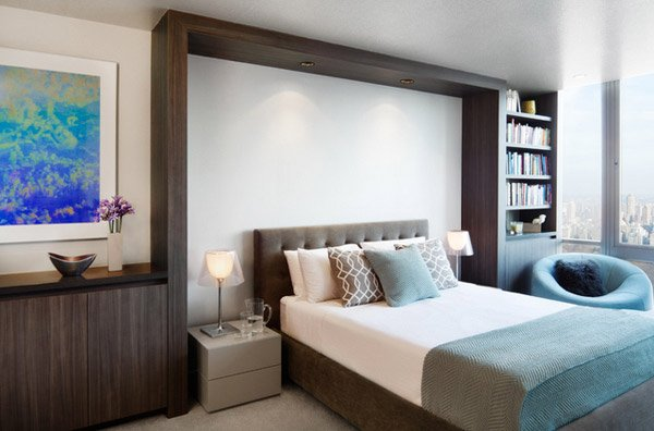 Brown and Teal Bedrooms