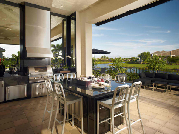 15 Awesome Contemporary Outdoor Kitchen Designs – Modern Outdoor Kitchens
