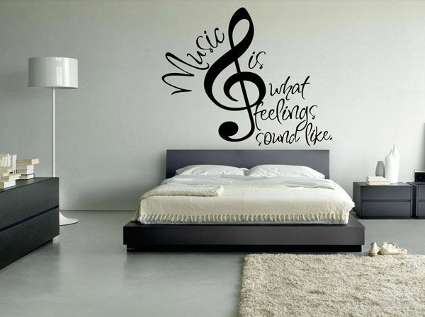Headphones Sign. 15 Interesting Music Themed Bedrooms   Home Design Lover
