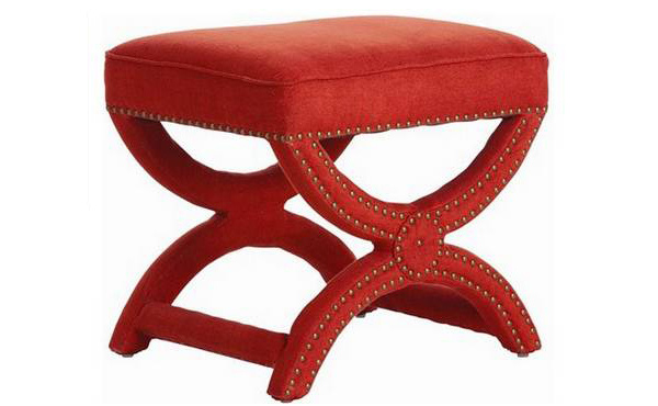 red upholstered