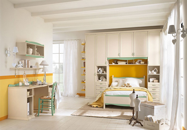 yellow and green bedrooms