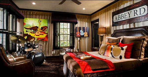 Beatles Room. 15 Interesting Music Themed Bedrooms   Home Design Lover