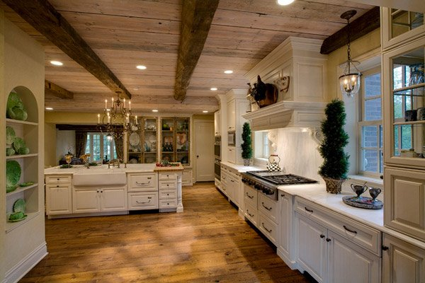 marble countertops drury design - Farmhouse Kitchen Design Ideas