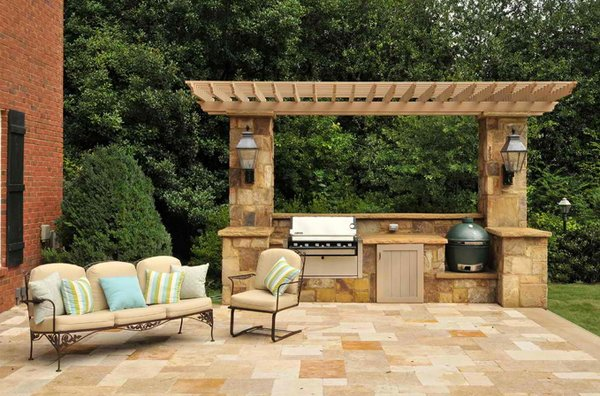 pergolas - Outdoor Kitchen Pictures Design Ideas