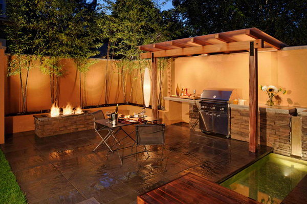 15 Awesome Contemporary Outdoor Kitchen Designs – Outdoor Kitchen Lighting