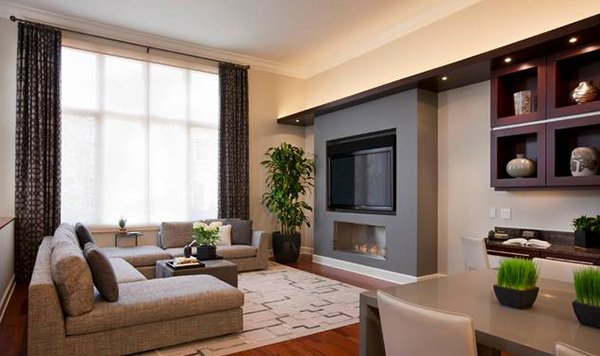Awe Inspiring 15 Adorable Contemporary Family Rooms Home Design Lover Largest Home Design Picture Inspirations Pitcheantrous