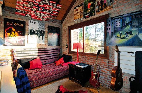 Residential 1. 15 Interesting Music Themed Bedrooms   Home Design Lover