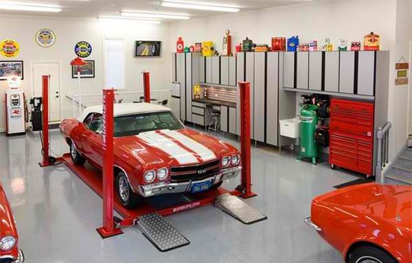 brushed aluminum melamine - Garage Designs Interior Ideas