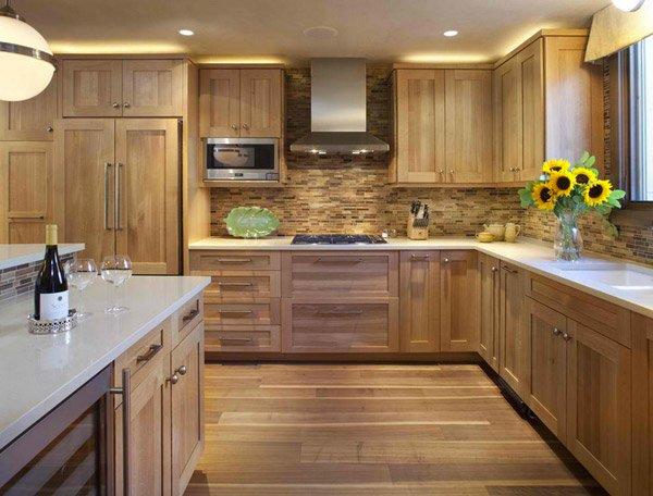 15 Contemporary Wooden Kitchen Cabinets – Quarter Sawn White Oak Kitchen Cabinets