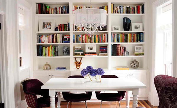 15 Ideas for Adding Bookshelves in the Dining Room | Home Design Lover