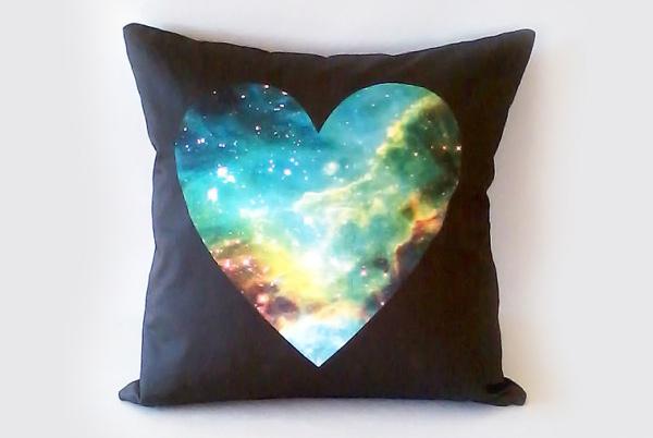 Galaxy Heart Pillows