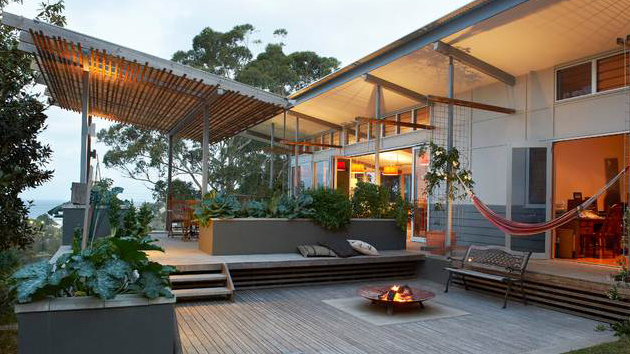 gray wooden deck