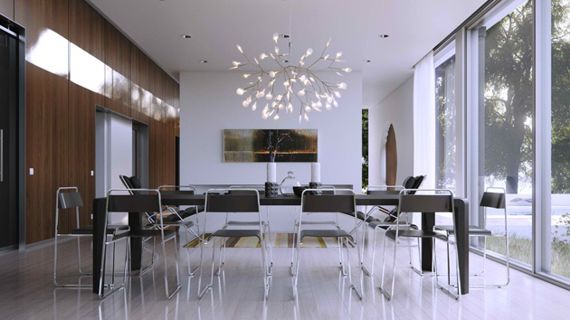 modern glass dining