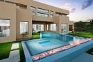 modern pool fire