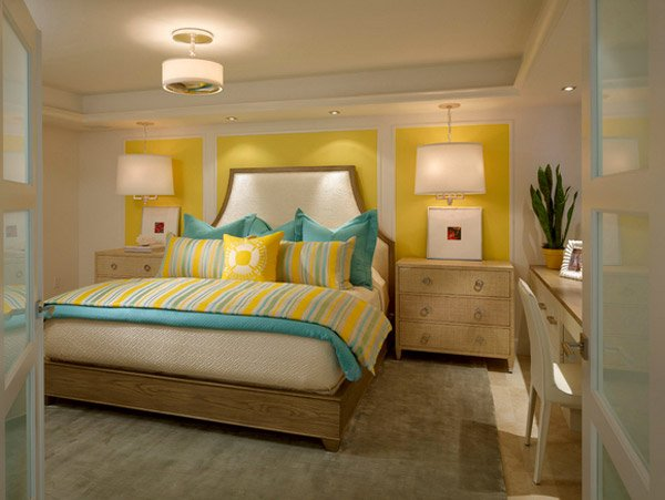 15 gorgeous grey, turquoise and yellow bedroom designs | home