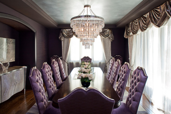 Purple Dining Room Chairs Ideas Classic Home Design Lover