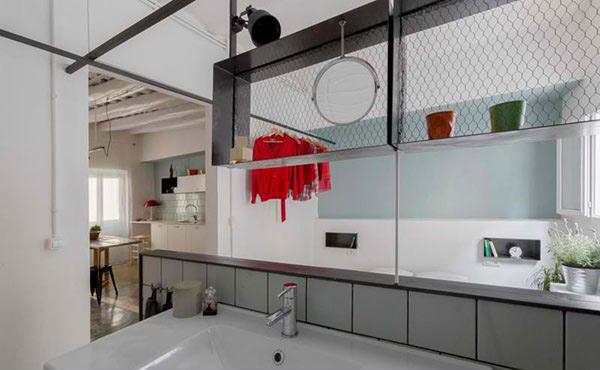 industrial looking shelves