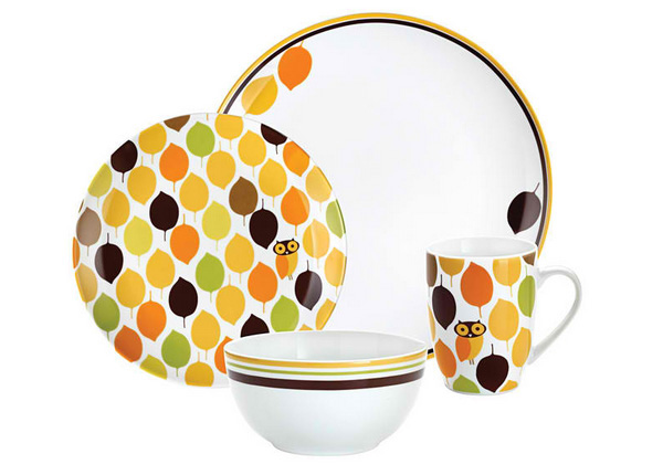 Rachael Ray 'Little Hoot' 4-piece Place Setting