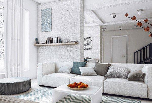 modern living - White Modern Living Room