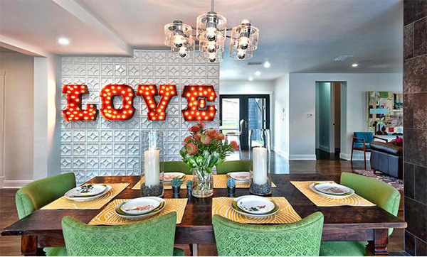 Wayside Typo Dining Wall