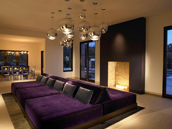 Furniture design - 15 Pretty In Purple Living Room Furniture Home Design Lover