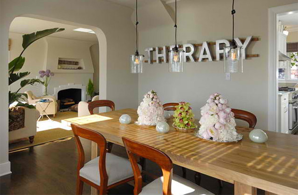 Leschi Dining Room with Letters
