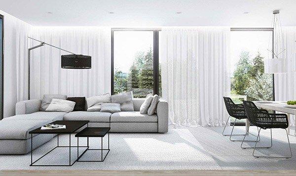modern sofa - White Modern Living Room