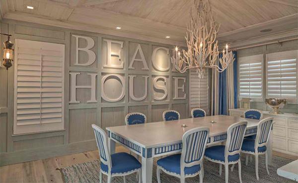 Florida Beach Cottage Typo Dining