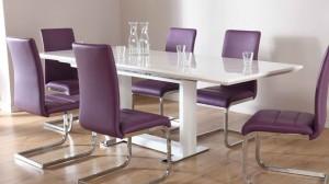 dine purple furniture