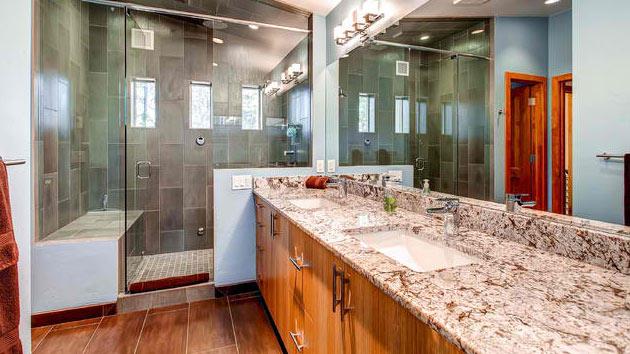 15 Bathrooms With Granite Countertops | Home Design Lover