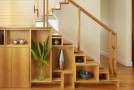stairs shelves