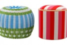 stripe ottomans