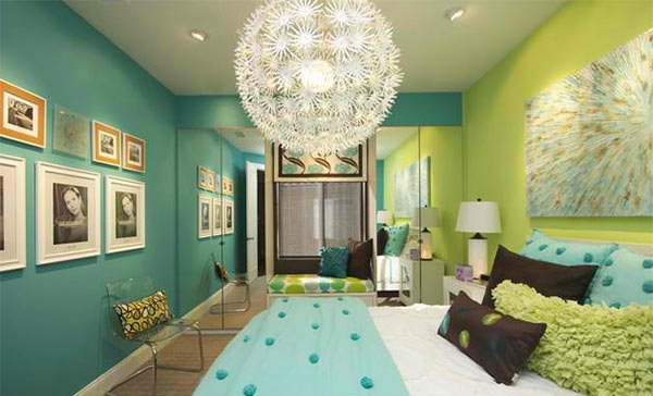 Girls Bedroom Bed with Blue and Lime Green. 15 Killer Blue and Lime Green Design is important   Home Design Lover