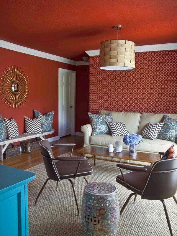 15 Mesmerizing Maroon Living Room Walls