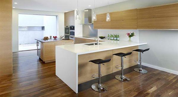 astounding peninsulashaped modern kitchens  home design lover,