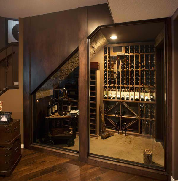 Diy wine cellar under stairs