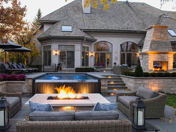 pools with fire pits