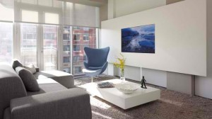 living room built-in TV