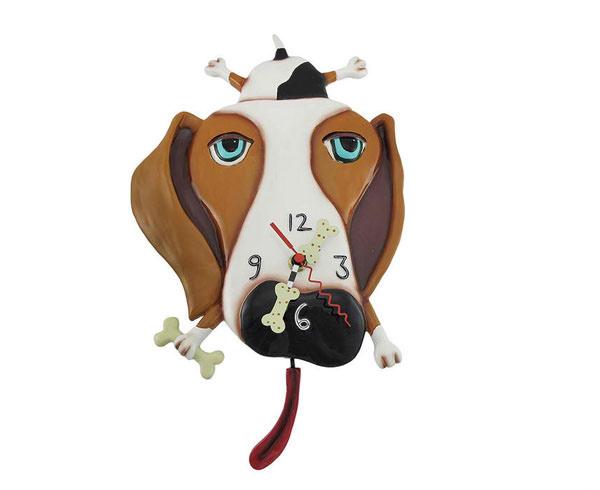 Buckley Dog Pendulum Wall Clock