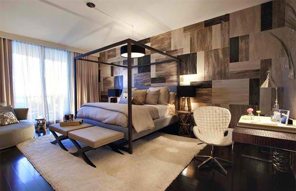 wood floor bedroom - 15 Dark Wood Flooring In Modern Bedroom Designs Home Design Lover