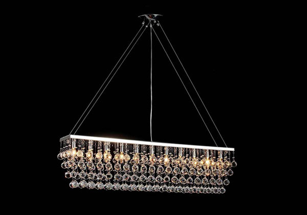 15 Glamorous Crystal Rectangular and Linear Pendant Lights – Linear Chandelier Crystal