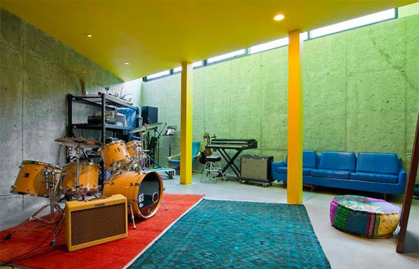 gray wall - Home Music Studio Design Ideas