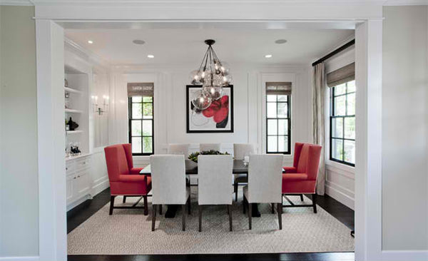 15 Dining Rooms in Red, Black and White Colors | Home Design Lover