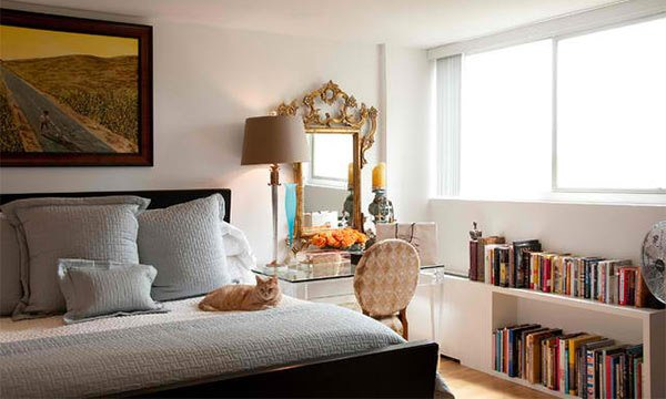 Turtle Creek High Rise Condo. 15 Ideas in Designing a Bedroom with Bookshelves   Home Design Lover