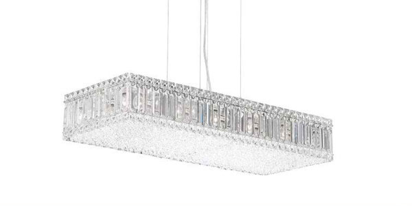 15 Glamorous Crystal Rectangular and Linear Pendant Lights – Rectangular Pendant Chandelier