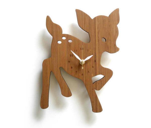 Fawn Wall Clock